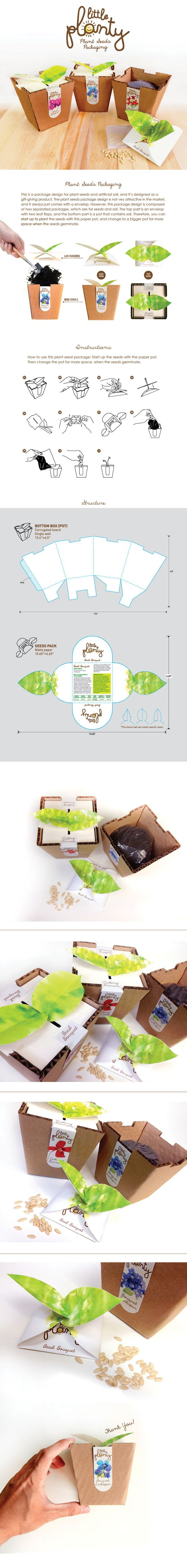 Little Planty- Plant seeds package design by CHENGWEN fung, via Behance PD