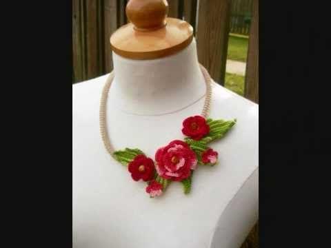 crochet jewelry  http://www.etsy.com/shop/FlowersbyIrene