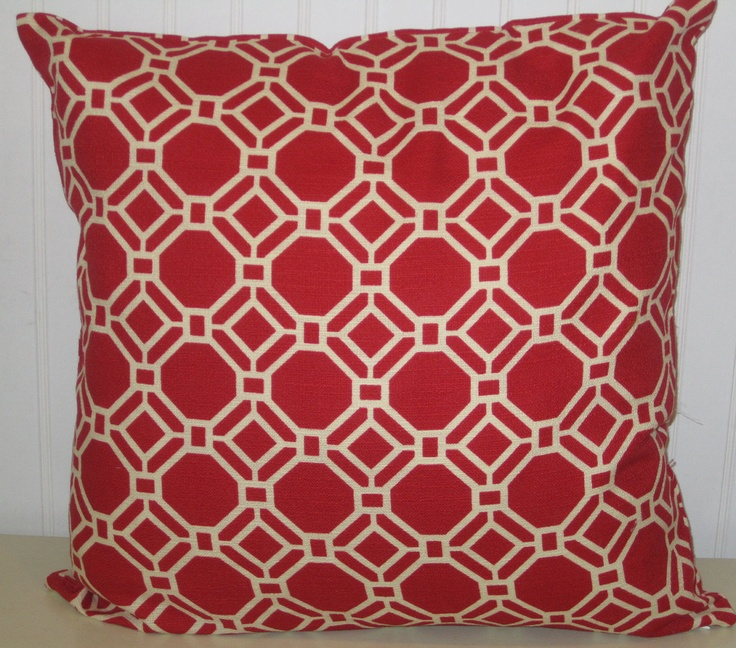 casagiardino red decorative pillow cover20 x 20 slubby by codyandcooperdesigns 9 in my. Black Bedroom Furniture Sets. Home Design Ideas