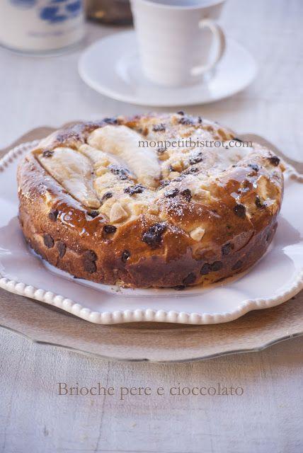 Mon petit bistro Brioche chocolate and pears