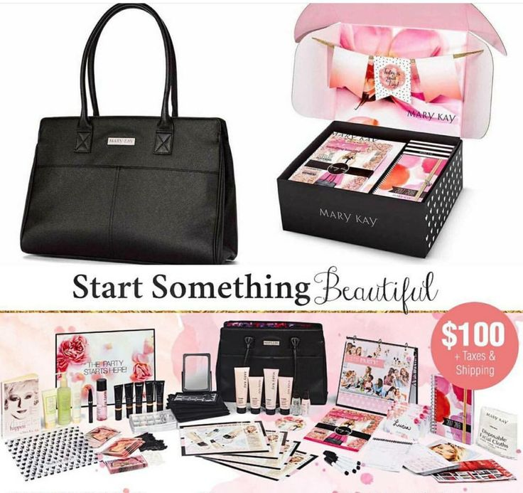 "So excited for this new starter kit for new consultants! Over $300 worth of full-size products for only $100! What are you waiting for!? Visit my Facebook Page for more info ""Sarah Collins - Mary Kay"""
