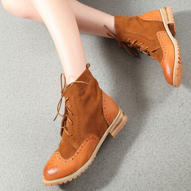 autumn in DaWanda Boots – Ms Suede leather desert boots (N085) – a unique product by BlueFashionSky on DaWanda