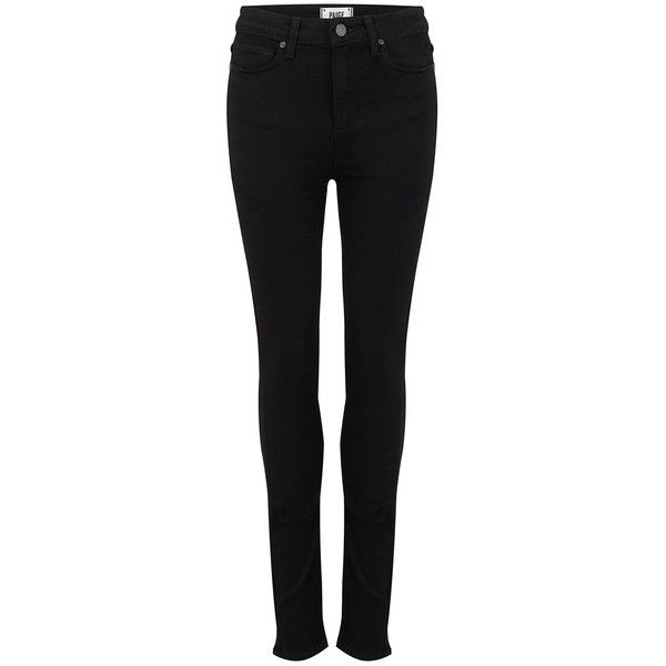 Paige Denim Margot High Rise Ultra Skinny Jeans - Black Shadow (1.840 VEF) ❤ liked on Polyvore featuring jeans, pants, calça, black shadow, black jeans, black skinny leg jeans, skinny jeans, slim fit jeans and high-waisted jeans