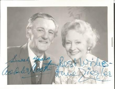 Webster Booth and Anne Zieger signed b/w photo Goo