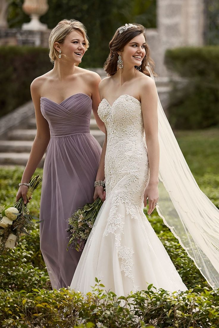 Fit-and-flare wedding dresses work wonders to add feminine curves to any body shape.