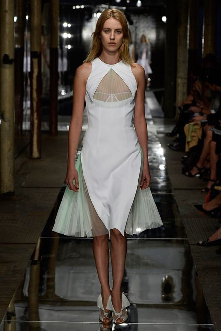 Love the pleating in this Christopher Kane look