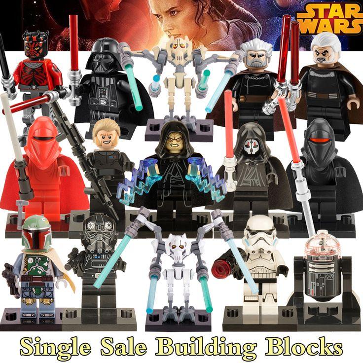 1PC Star Wars diy figures Black Shadow Stormtroopers Kallus R5D4 Robot Count Dooku Darth Vader Darth Maul Building Blocks Kids ($0.71)