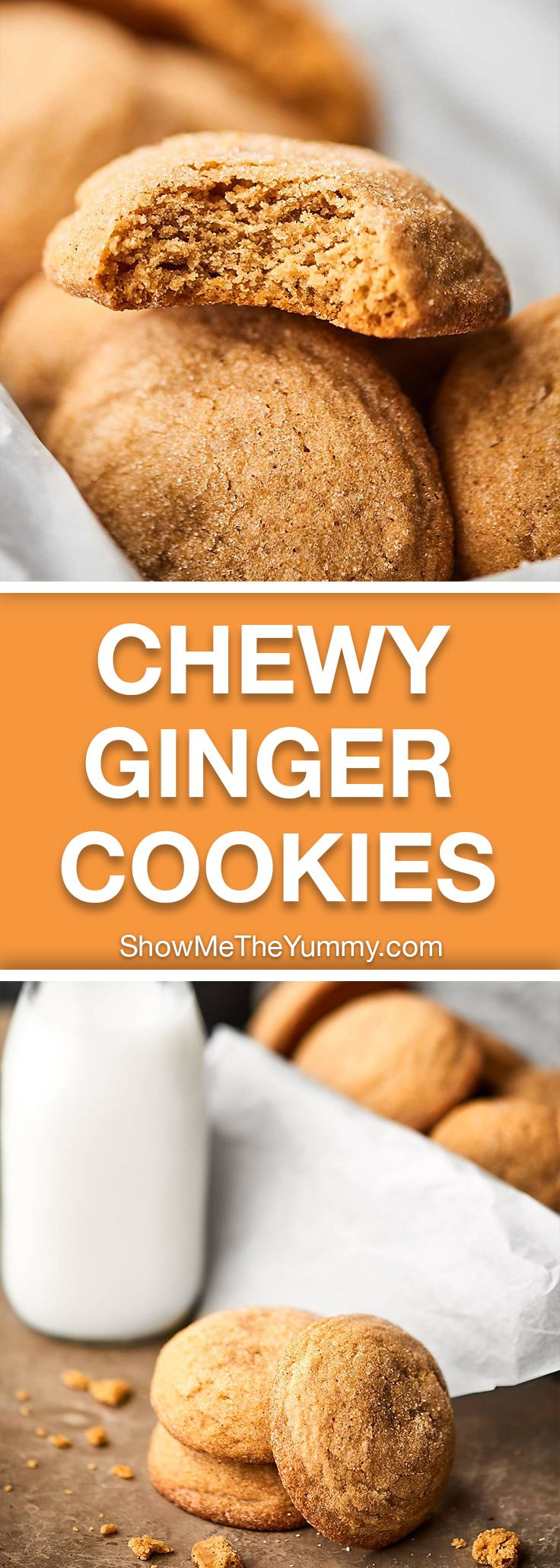 We're making Chewy Ginger Cookies for day TWO of Christmas Cookie and Candy week. These cookies are chewy, a little crunchy, totally fluffy, perfectly spiced, and sweetened with maple syrup! showmetheyummy.com
