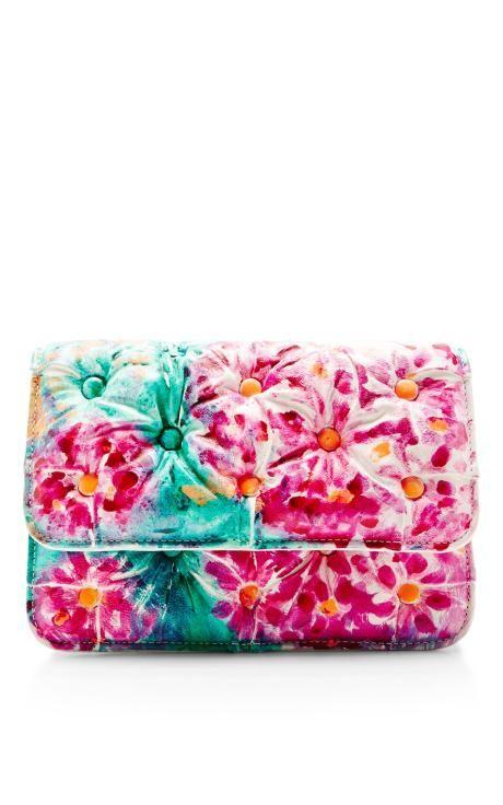 Benedetta Bruzziches Carmen Painted Flowers Handbag by Benedetta Bruzziches for Preorder on Moda Operandi