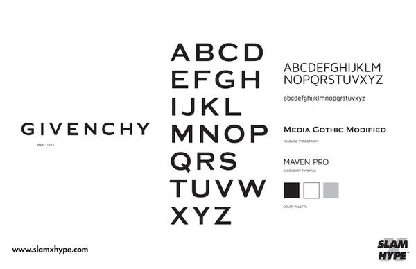 Givenchy SIZED 【フォント】ストリートウェアブランドなら「Futura」を高級ブランドなら「Helvetica」を使うべきという考察