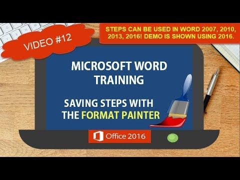 MICROSOFT WORD SAVING STEPS WITH THE FORMAT PAINTER | WORD