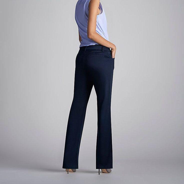 Lee Women's Curvy Fit Maxwell Trouser - Modern Series - Petite Pants (Size 10 SlimP)