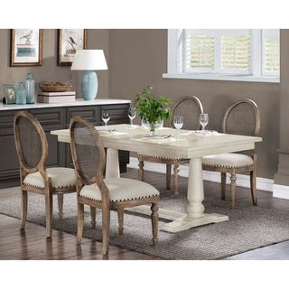 Shop For Farmhouse White Pedestal Dining Table Get Free Shipping At Overstock Online Furniture StoresFurniture OutletWood