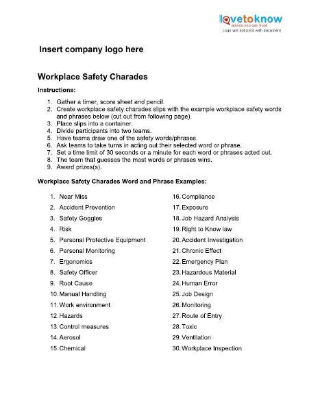 Workplace Safety Charades Elearning Pinterest