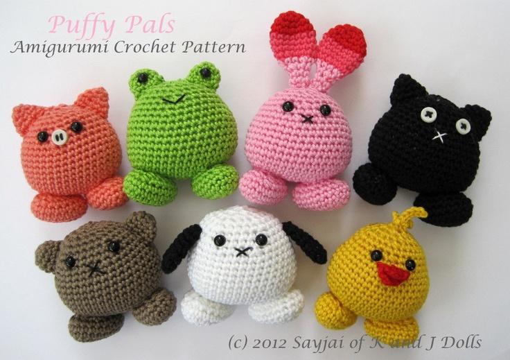 Puffy Pals Amigurumi Crochet Pattern (PDF). $3.99, via Etsy.