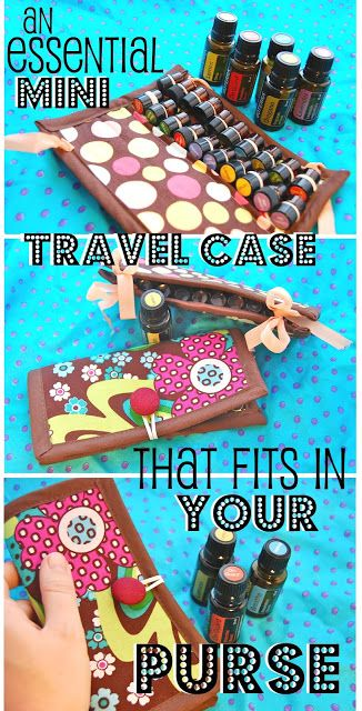 Don't risk loosing your big bottles! Mini Essential Oil Travel Case the size of a checkbook- DIY