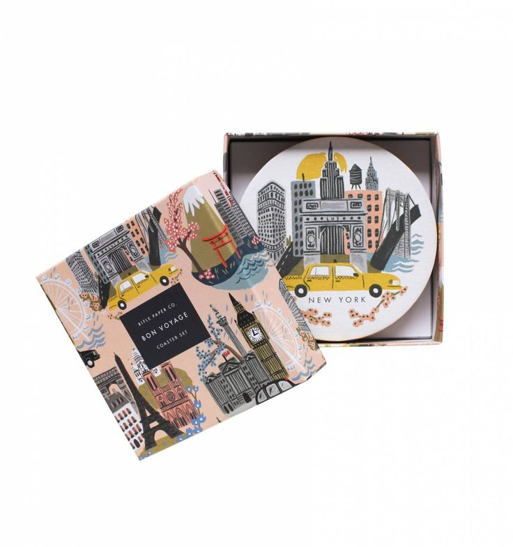 Some travellers also like to spend time at home. Combine the best of both worlds and gift them city coasters | Cities Coasters Featuring 4 Designs