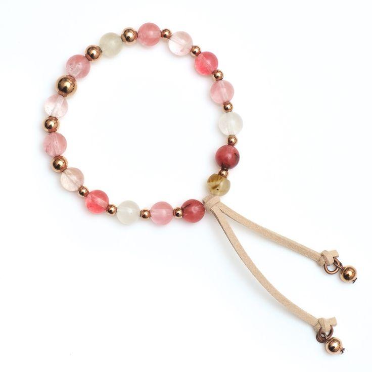 xada jewellery - Chelsea Rose pink stone tassel bracelet, $32.95 (http://www.xadajewellery.com/shop-by-collection/xada-pink-stone-and-tassel-suede-bracelet/)