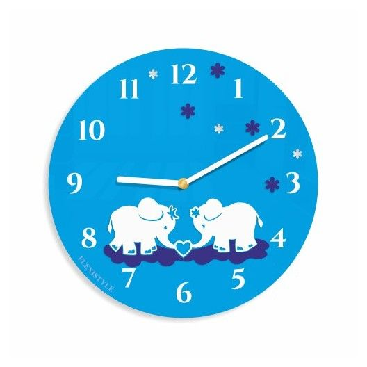 Detske nastenne hodiny so slonikmi