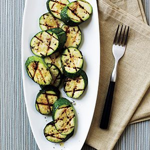 Grilled Zucchini with Sea Salt | CookingLight.com #myplate #vegetables