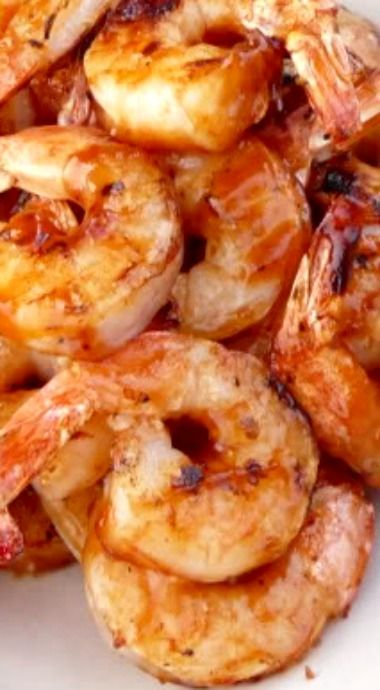 Grilled Shrimp with Chipotle Raspberry BBQ Sauce