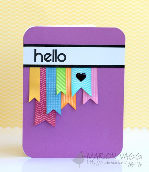 This blog has some really great clean and simple cards. Really like the design of this one. Hello