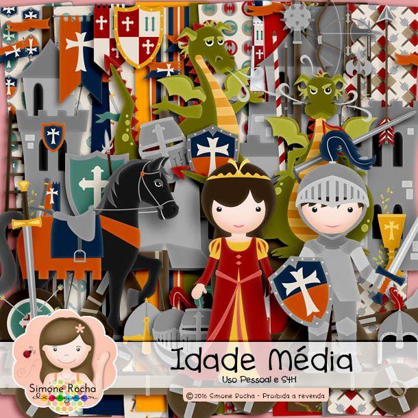 Kit Digital Idade Média by Simone Rocha