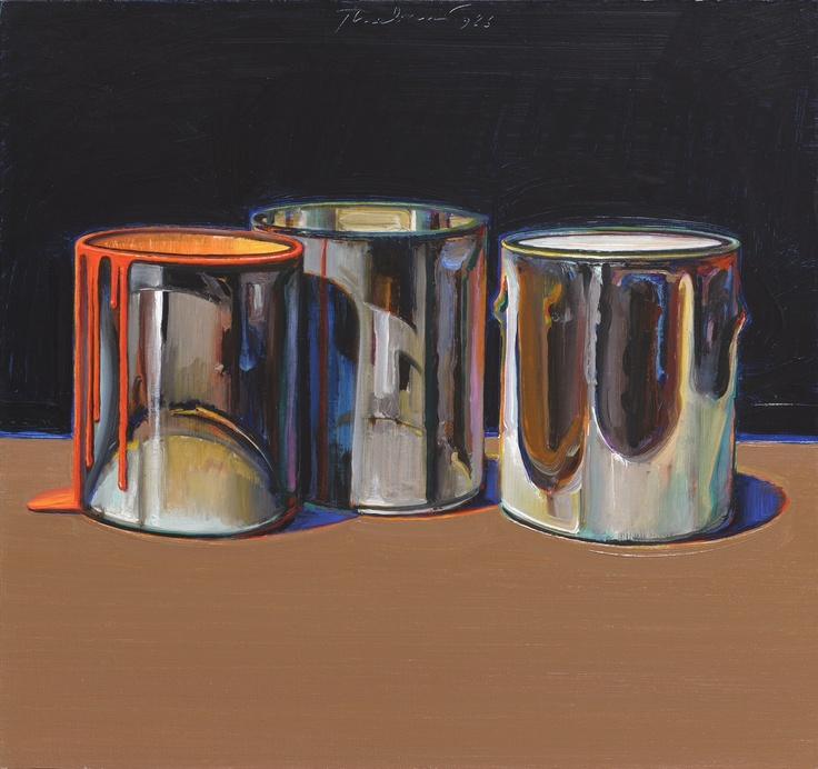 Thiebaud, Wayne (1920-) Paint Cans | Still Life Art ...
