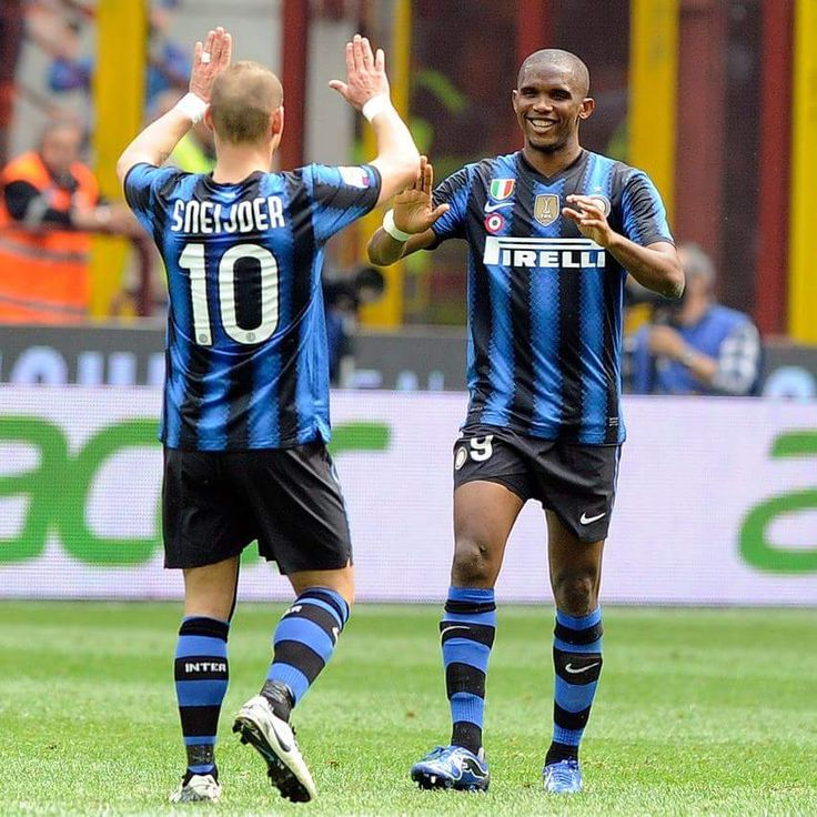 Sneijder and Samuel Eto'o