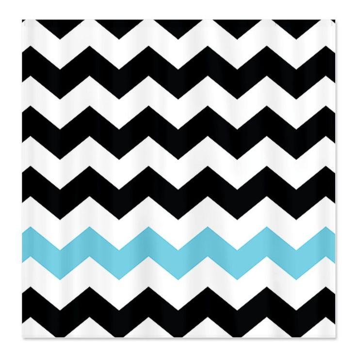 CafePress Black White Turquoise Chevron Shower Curtain   Standard White15 best Black and White Chevron Shower Curtain images on Pinterest  . Turquoise Chevron Shower Curtain. Home Design Ideas