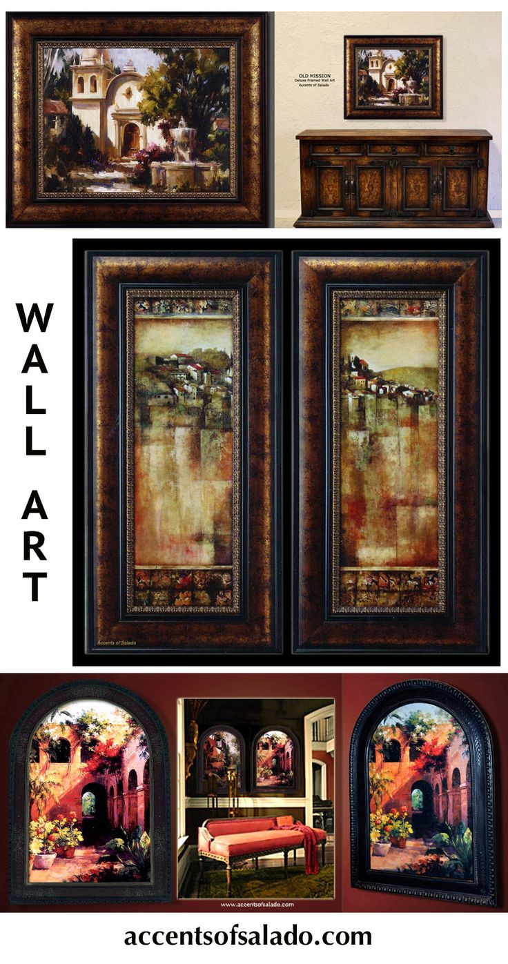Tuscan Old World Wall Decor Mirrors Art Iron Grilles Toppers