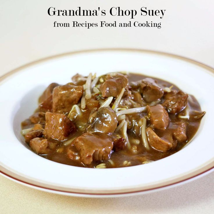 Grandma's Chop Suey We grew up eating Grandma's Chop Suey. She usually made it for Sunday dinner. It is one of those dishes that can feed a crowd and it's hard to make just a small amount of it. I've managed to scale this recipe back so it will feed 4 people and maybe leftovers. Chop... »