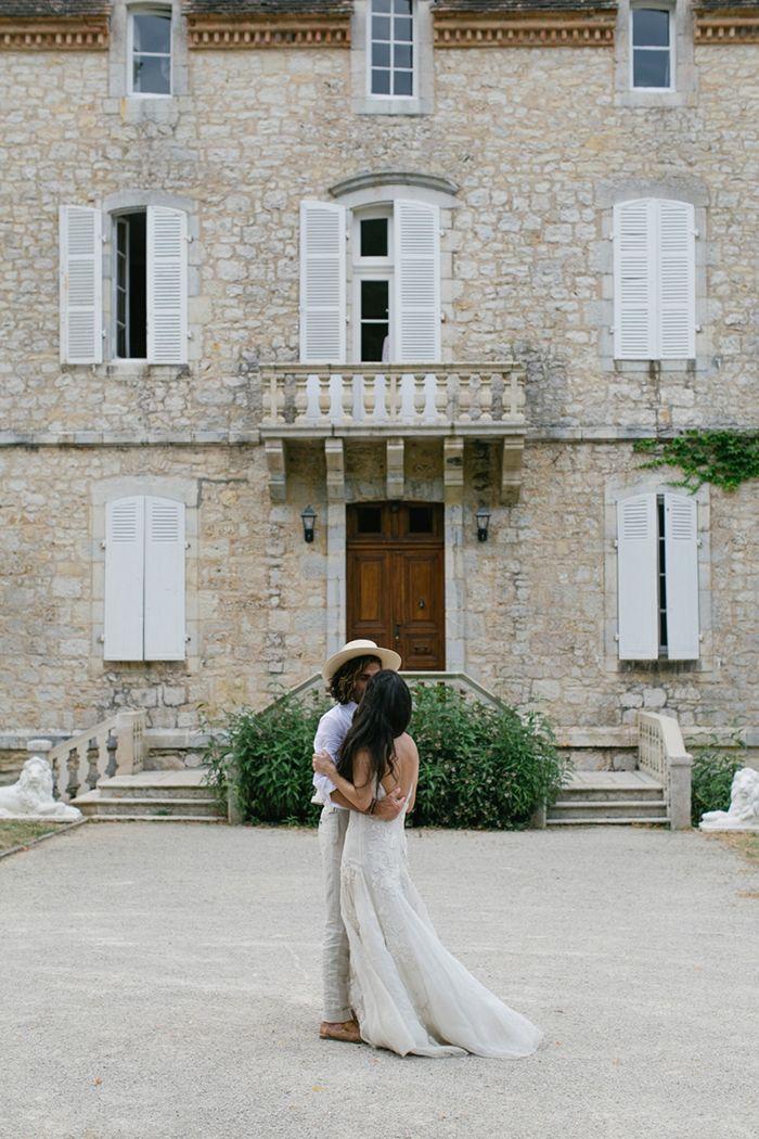 Destination Wedding in France // Villa // Europe // Small Wedding Inspiration // Romantic // Simple // Minimal