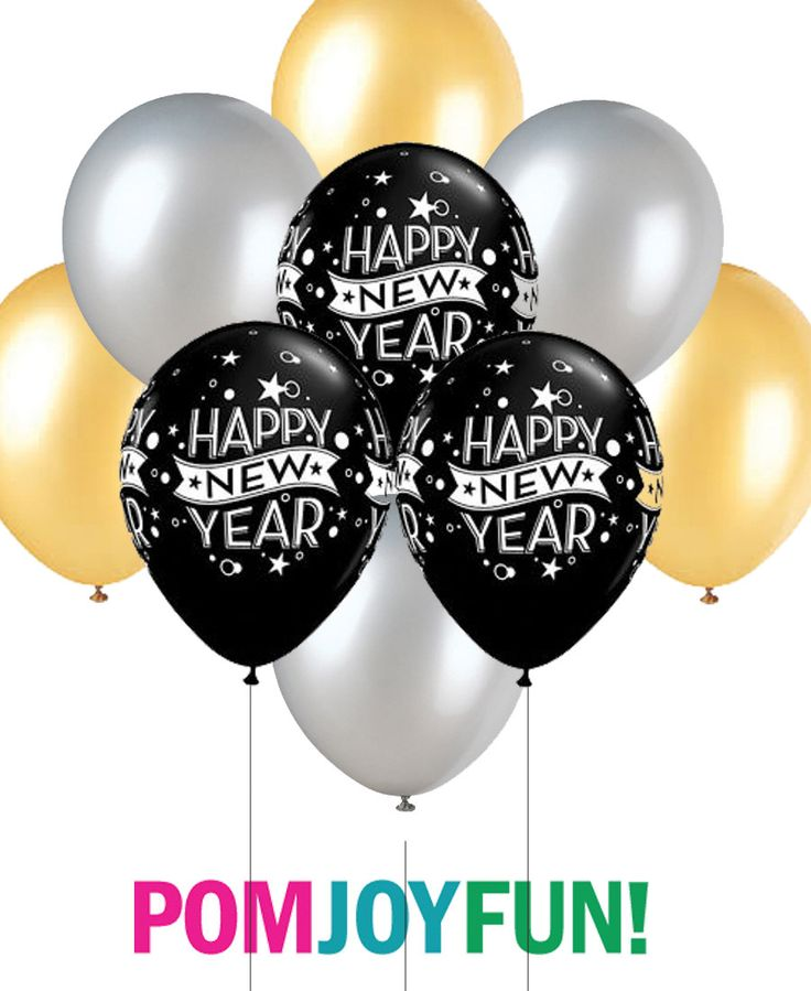 New Year Balloons, Black, Gold and Silver Balloons 11 Inch with Fast Shipping, Silver Colored Bulk Balloons, Gold Colored Balloons,$9.00+