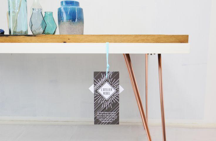 L'Atelier Rebel - Retro copper 60's hairpin design table   Retro 60's haarpin eettafel tafel - Industrial Chic Living - #tafel #designtafel #eetkamer #wonen #La Rebel #haarpin #hairpin #retro #chic #living