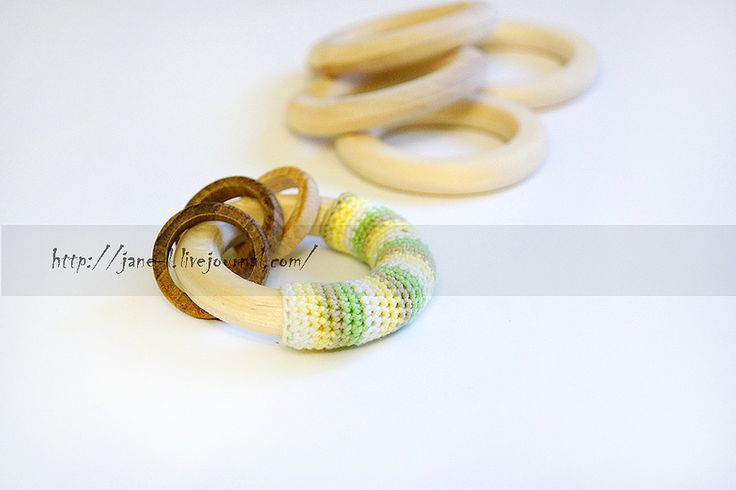 Natural wood ring Teether