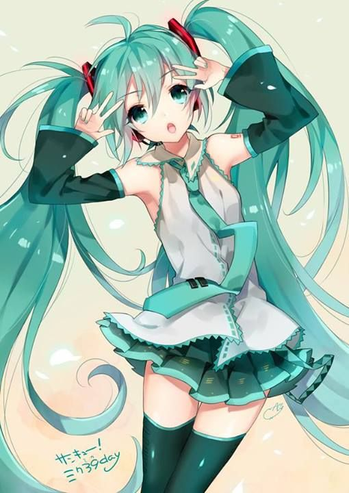 Hatsune miku,or reffered as Miku Hatsune, is a anime singer... WHICH IS SO COOL!!!!!