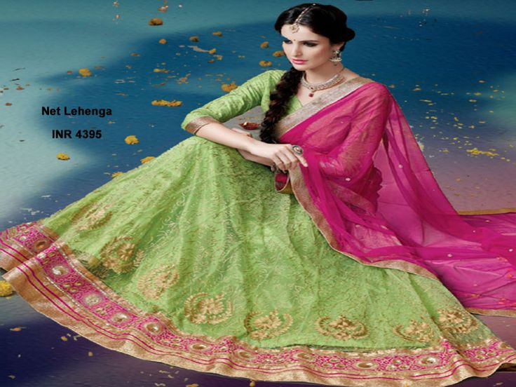 Pick one of the fabulous lehenga designed with a unique work like Kundan, lace, resham and many others including the thread embroidery from the Trendybiba.com For Enquiries & Whatsapp : +91 9958247681 Details of This Lehenga : http://www.trendybiba.com/pink-net-lehenga-tblegajj129b.html