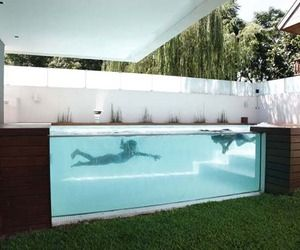 Above ground swimming pool design
