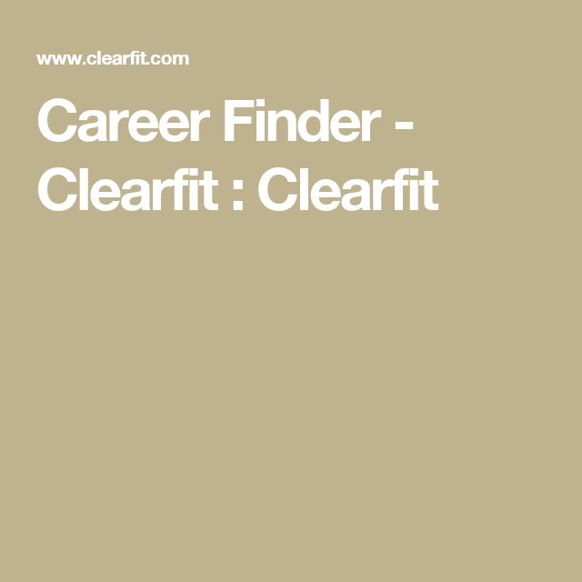 Career Finder - Clearfit : Clearfit