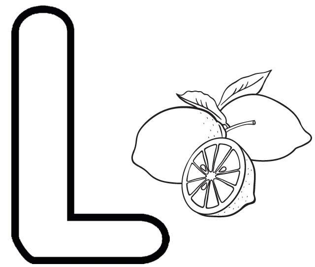 Letter L For Lemon Coloring Page Alphabet Coloring Pages