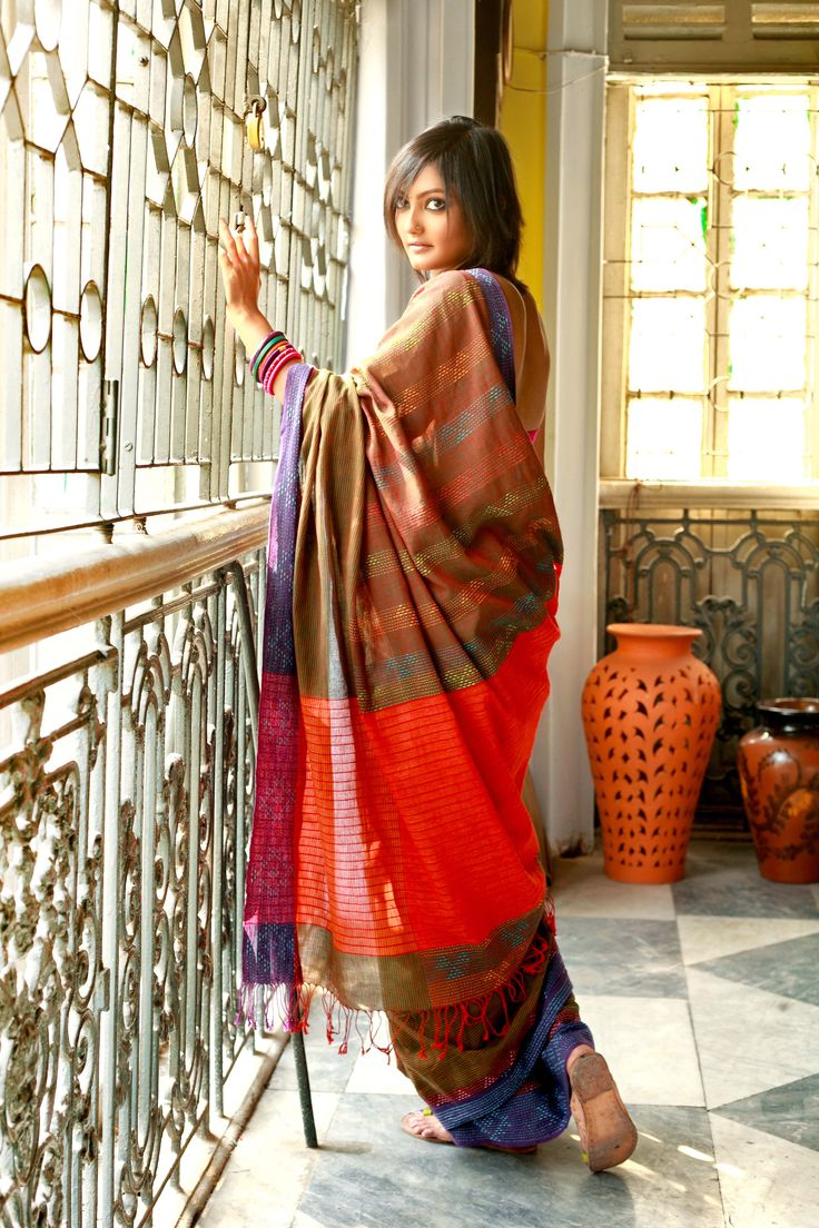 Kantha Sari hand-spun by women artisans in rural bengal