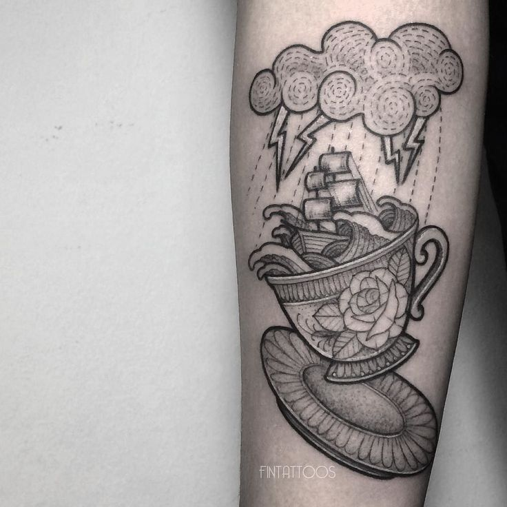 best 25 teacup tattoo ideas on pinterest cup of tea tattoo tea tattoo and vintage tattoos. Black Bedroom Furniture Sets. Home Design Ideas