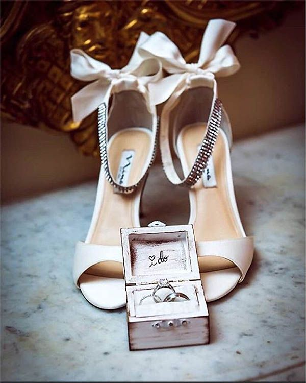 The Vinnie Pump – Wedding Shoes by Nina Shoes. Photo by Brian Taback Photography http://ninashoes.com/vinnie-ivory-luster-satin--18201?utm_source=Pinterest&utm_medium=Social%20Media%20Campaign&utm_term=Wedding%20Chicks%2C%20Wedding%20Shoes&utm_content=Wed