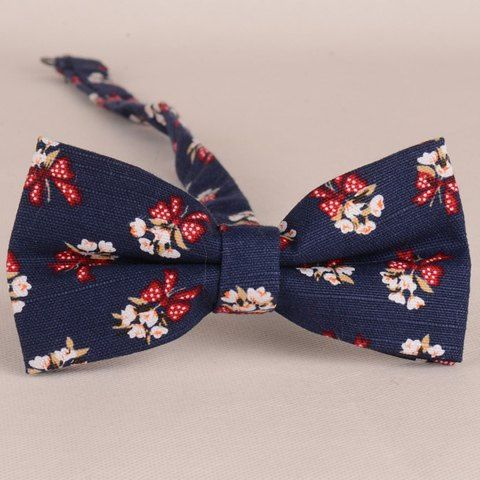 Stylish Flower and Bow Pattern Bow Tie For Men
