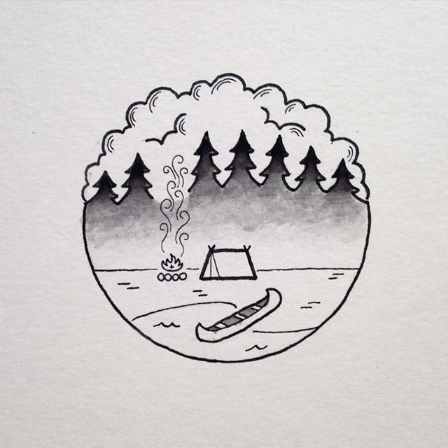tattoo #fog #staywild instead of a canoe have a kayak or have a rucksack