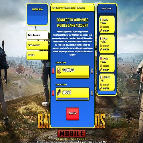 PUBG Mobile Hack - PUBG Mobile Free Battle Points Battle