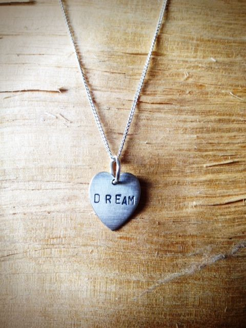 Where would we be without our dreams? Our dreams power us through the drab Monday's and the late shits. Our dreams take us to where we belong; a place that makes us forget about the deadlines and drama. Escape from reality with this Livto dream heart necklace.