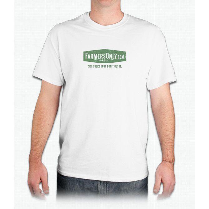 Farmers Only (green logo) - Mens T-Shirt