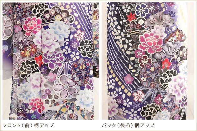【楽天市場】夏用【絽】振袖レンタル 白紫に慶びの流水彩花…